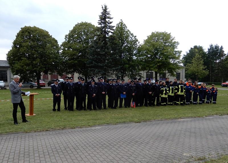 Übergabe ZWB für ein neues Feuerwehrgerätehaus in Wasdow
