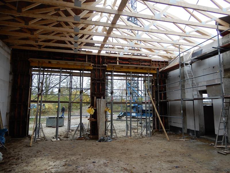 Die Fahrzeughalle im neuen Feuerwehrgerätehaus in Wasdow