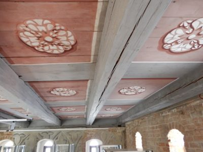 Die Restaurationsarbeiten an der Decke der Heilig-Geist-Kirche sind abgeschlossen.