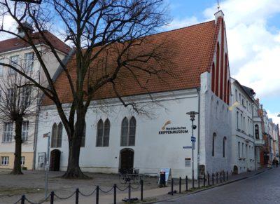 Die Heilig-Geist-Kirche in Güstrow beherbergt das Norddeutsche Krippenmuseum.