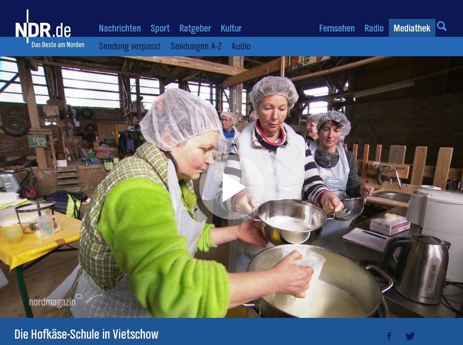 Ndr Berichtet über Die Hofkäse Schule In Vietschow Leader Region