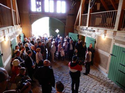 Zur feierlichen Eröffnung der Erlebnisbüdnerei gab es eine Führung durch das Gebäude.