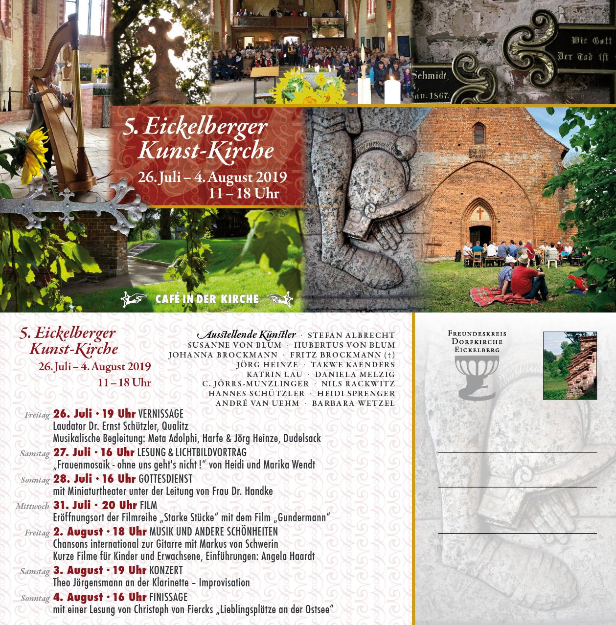 Programm der 5. Eickelberger Kunst-Kirche
