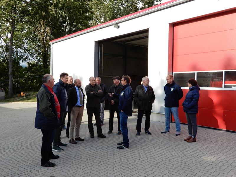 Besichtigung des neuen Feuerwehrgebäudes in Goien